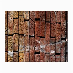 Wood Logs Wooden Background Small Glasses Cloth (2-Side)