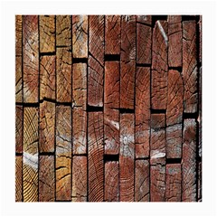 Wood Logs Wooden Background Medium Glasses Cloth (2-Side)