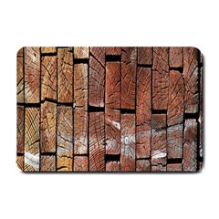 Wood Logs Wooden Background Small Doormat
