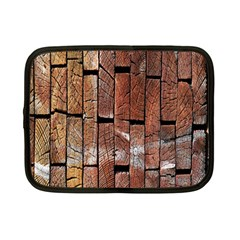 Wood Logs Wooden Background Netbook Case (Small)
