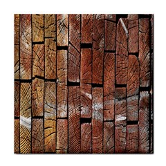 Wood Logs Wooden Background Face Towel
