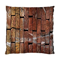 Wood Logs Wooden Background Standard Cushion Case (one Side)