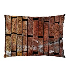 Wood Logs Wooden Background Pillow Case