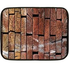 Wood Logs Wooden Background Double Sided Fleece Blanket (Mini)