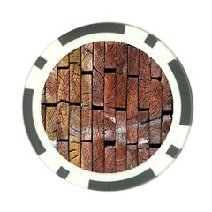 Wood Logs Wooden Background Poker Chip Card Guard (10 pack)
