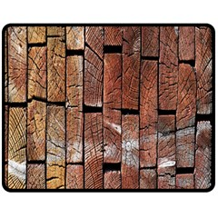Wood Logs Wooden Background Fleece Blanket (medium)