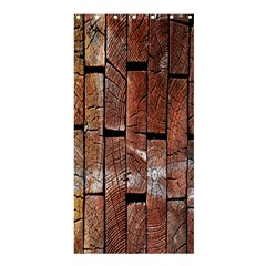 Wood Logs Wooden Background Shower Curtain 36  x 72  (Stall)