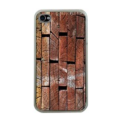 Wood Logs Wooden Background Apple Iphone 4 Case (clear)