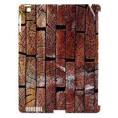 Wood Logs Wooden Background Apple iPad 3/4 Hardshell Case (Compatible with Smart Cover)
