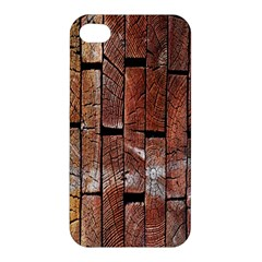 Wood Logs Wooden Background Apple Iphone 4/4s Premium Hardshell Case