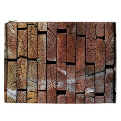 Wood Logs Wooden Background Cosmetic Bag (XXL)