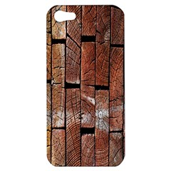 Wood Logs Wooden Background Apple Iphone 5 Hardshell Case