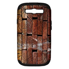 Wood Logs Wooden Background Samsung Galaxy S III Hardshell Case (PC+Silicone)