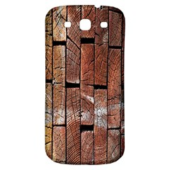 Wood Logs Wooden Background Samsung Galaxy S3 S III Classic Hardshell Back Case