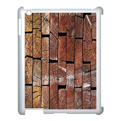 Wood Logs Wooden Background Apple Ipad 3/4 Case (white)