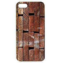 Wood Logs Wooden Background Apple iPhone 5 Hardshell Case with Stand