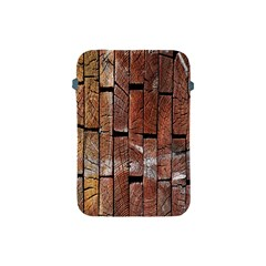 Wood Logs Wooden Background Apple iPad Mini Protective Soft Cases