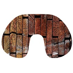 Wood Logs Wooden Background Travel Neck Pillows