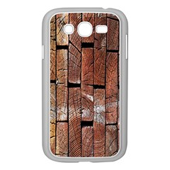 Wood Logs Wooden Background Samsung Galaxy Grand Duos I9082 Case (white)