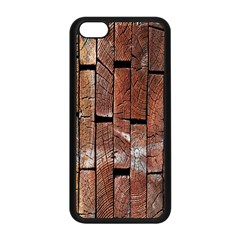 Wood Logs Wooden Background Apple Iphone 5c Seamless Case (black)