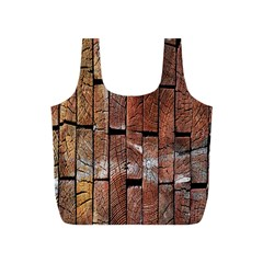 Wood Logs Wooden Background Full Print Recycle Bags (S)