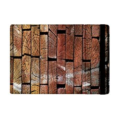 Wood Logs Wooden Background Ipad Mini 2 Flip Cases