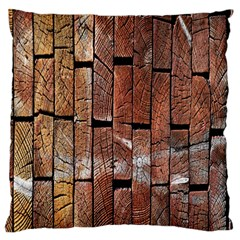 Wood Logs Wooden Background Standard Flano Cushion Case (two Sides)