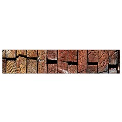 Wood Logs Wooden Background Flano Scarf (Small)