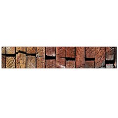 Wood Logs Wooden Background Flano Scarf (Large)