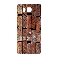 Wood Logs Wooden Background Samsung Galaxy Alpha Hardshell Back Case