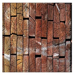 Wood Logs Wooden Background Large Satin Scarf (square)