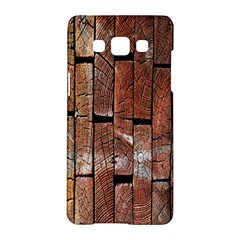 Wood Logs Wooden Background Samsung Galaxy A5 Hardshell Case