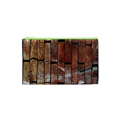 Wood Logs Wooden Background Cosmetic Bag (XS)