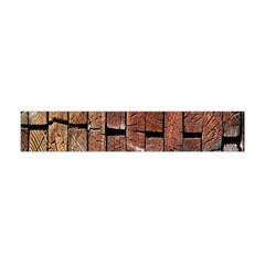 Wood Logs Wooden Background Flano Scarf (Mini)