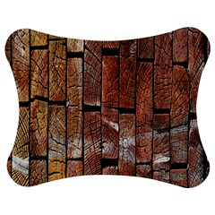 Wood Logs Wooden Background Jigsaw Puzzle Photo Stand (Bow)