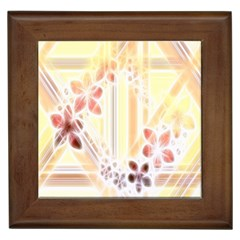 Swirl Flower Curlicue Greeting Card Framed Tiles