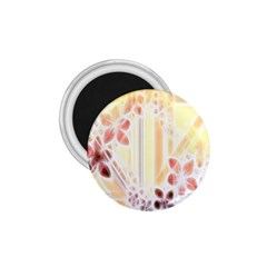 Swirl Flower Curlicue Greeting Card 1.75  Magnets