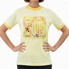 Swirl Flower Curlicue Greeting Card Women s Fitted Ringer T-Shirts