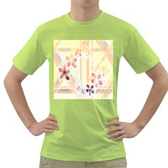 Swirl Flower Curlicue Greeting Card Green T-Shirt