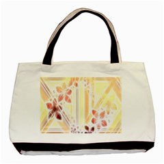 Swirl Flower Curlicue Greeting Card Basic Tote Bag