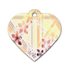 Swirl Flower Curlicue Greeting Card Dog Tag Heart (Two Sides)
