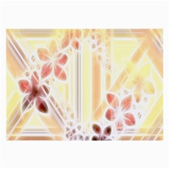Swirl Flower Curlicue Greeting Card Large Glasses Cloth