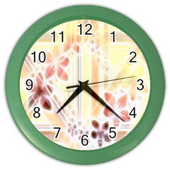 Swirl Flower Curlicue Greeting Card Color Wall Clocks