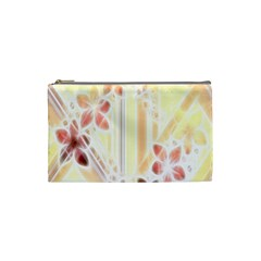 Swirl Flower Curlicue Greeting Card Cosmetic Bag (small)