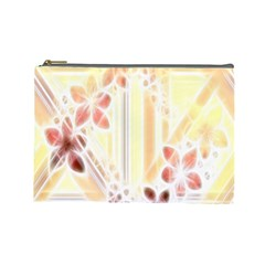 Swirl Flower Curlicue Greeting Card Cosmetic Bag (large)