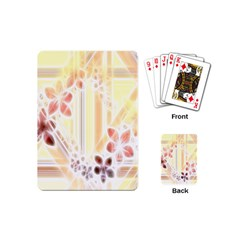 Swirl Flower Curlicue Greeting Card Playing Cards (Mini)