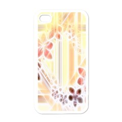 Swirl Flower Curlicue Greeting Card Apple iPhone 4 Case (White)