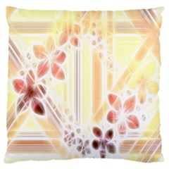 Swirl Flower Curlicue Greeting Card Large Cushion Case (Two Sides)