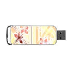 Swirl Flower Curlicue Greeting Card Portable USB Flash (Two Sides)
