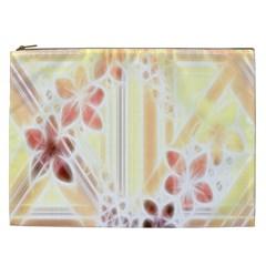 Swirl Flower Curlicue Greeting Card Cosmetic Bag (XXL)